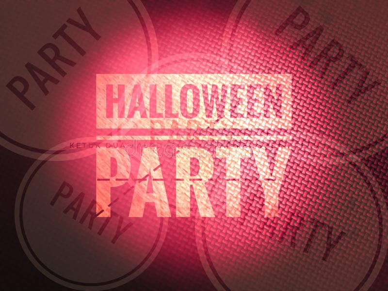 Happy halloween party invitation word in blurry colourfull background. Happy halloween party word in blurry defocus dotted colourfull background stock photography