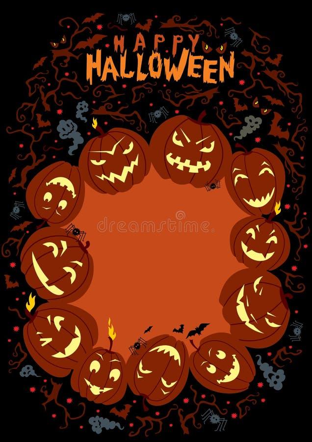 Download Happy Halloween Poster stock vector. Image of invitation - 26667701