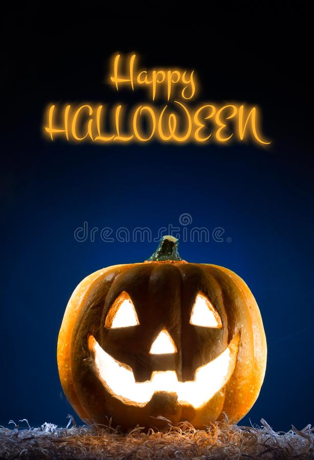 Happy halloween poster. Black background. Happy halloween poster, halloween party festive banner, background royalty free stock photography