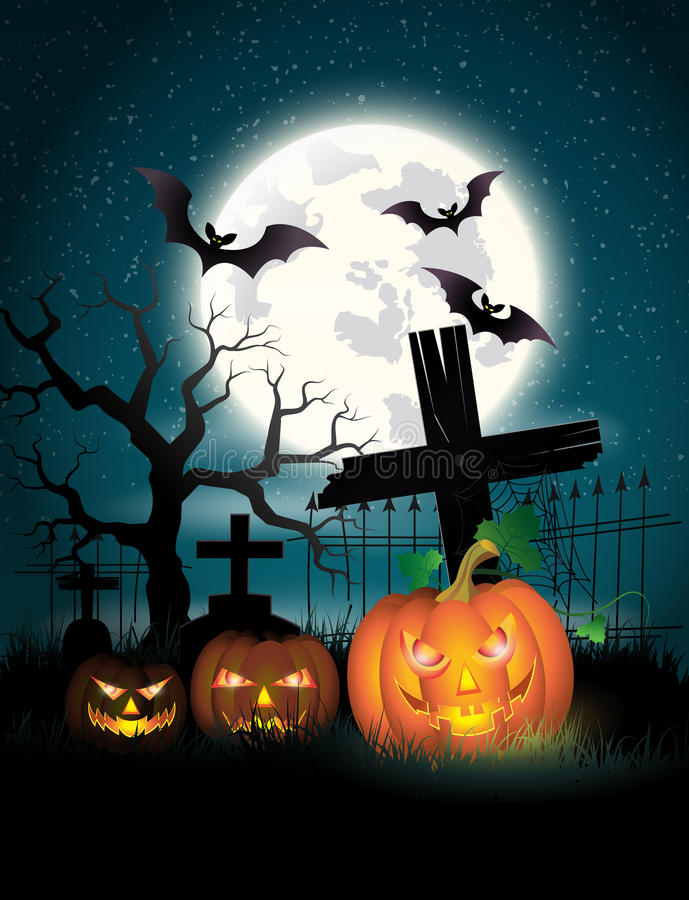 Happy Halloween Poster. Vector illustration. royalty free illustration