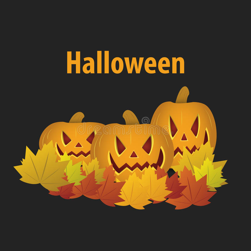 Happy Halloween with pumpkin. banner or invitation. Vector stock image