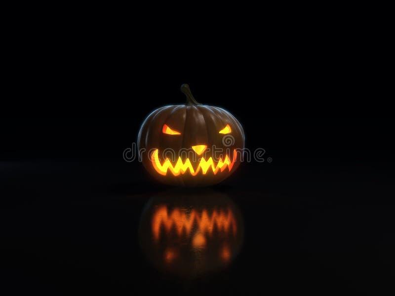 Happy halloween pumpkin on black vector illustration