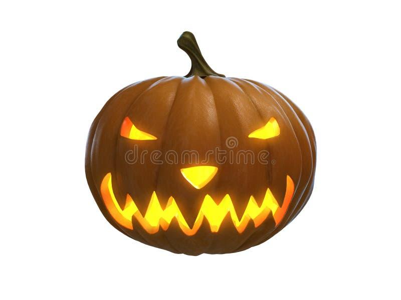 Happy halloween pumpkin isolated vector illustration