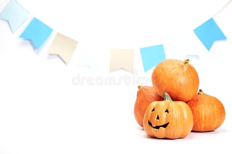 Happy halloween Pumpkin on white royalty free stock photo