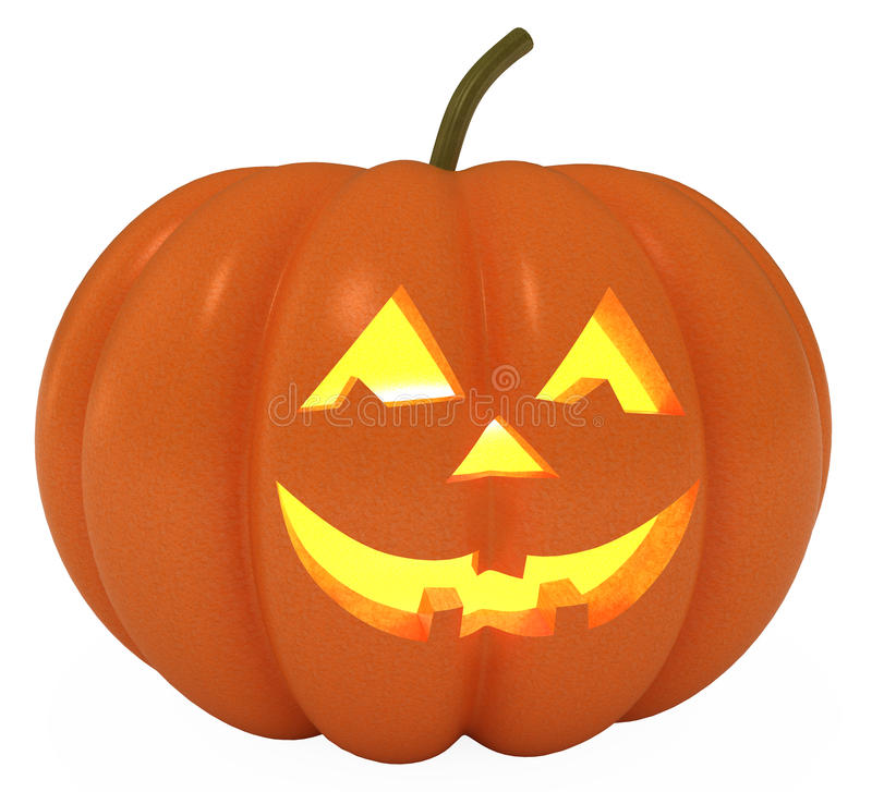 Free Happy Halloween Pumpkin, With Clipping Path Stock Photos - 16672663