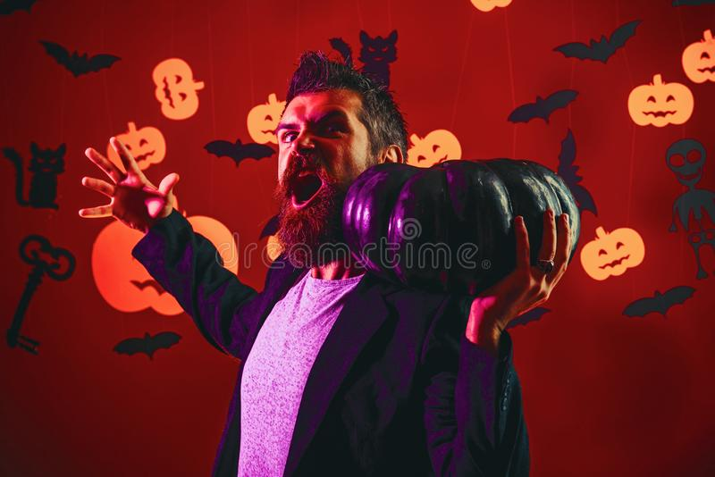 Happy Halloween Quotes for Spooky Fun. Trick or treat. Halloween decoration and scary concept for daddy. Background. Decorated for Halloween stock image