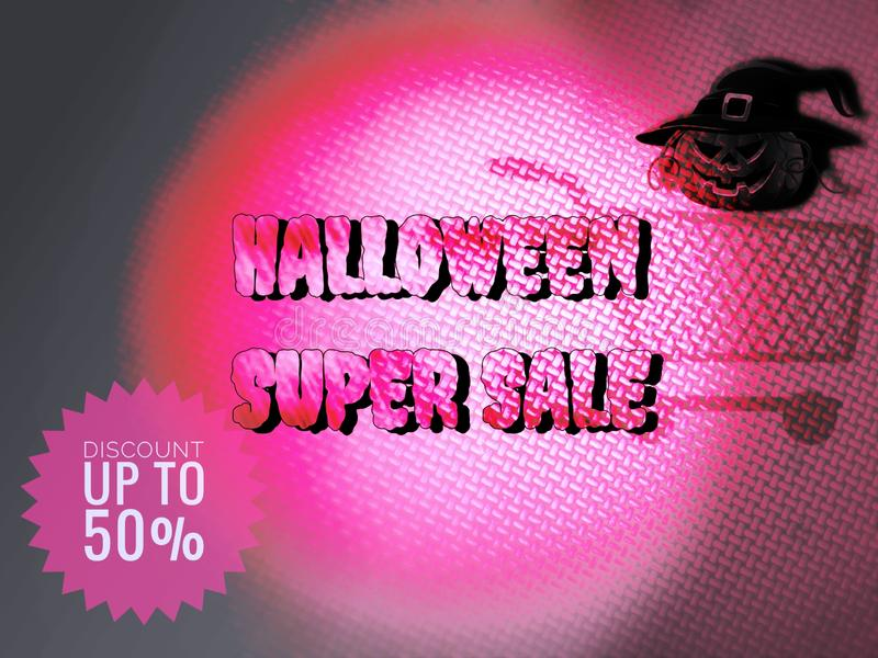 Happy halloween sale banner pamphlet for business, concept template. To promotion royalty free stock photos