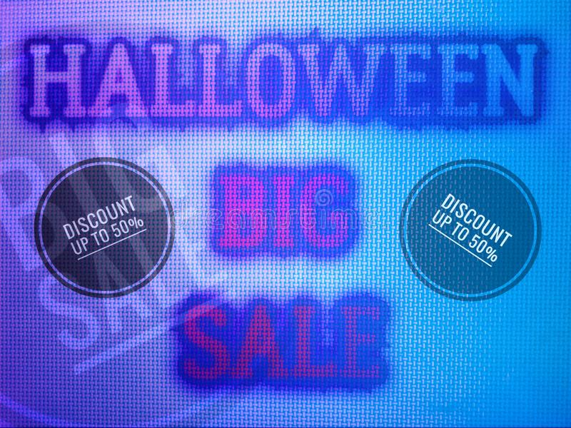 Happy halloween sale banner pamphlet for business, concept template. To promotion royalty free stock photography