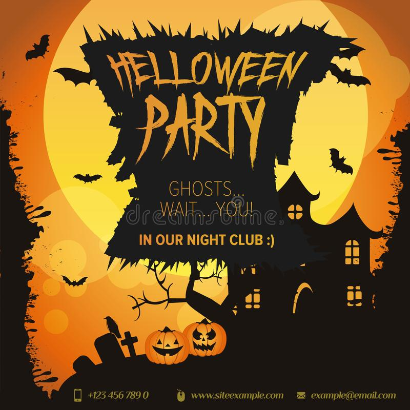 Happy Halloween Sale Banner Set 10 Vector Banners Stock Illustration Illustration Of Discount Offer 156179431