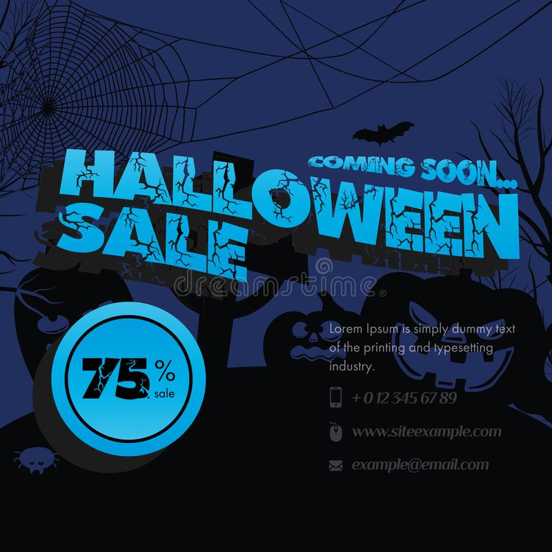 Happy Halloween Sale Banner Set Of Vector Design Elements Stock Illustration Illustration Of Happy Dusk 156179426