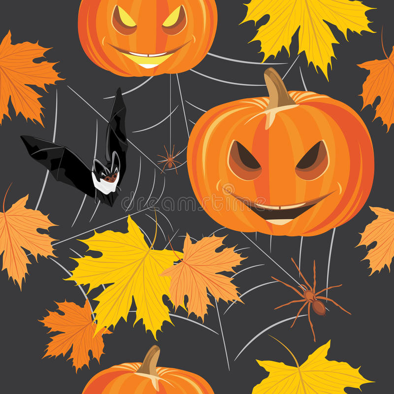 Happy Halloween. Seamless background for design royalty free stock images