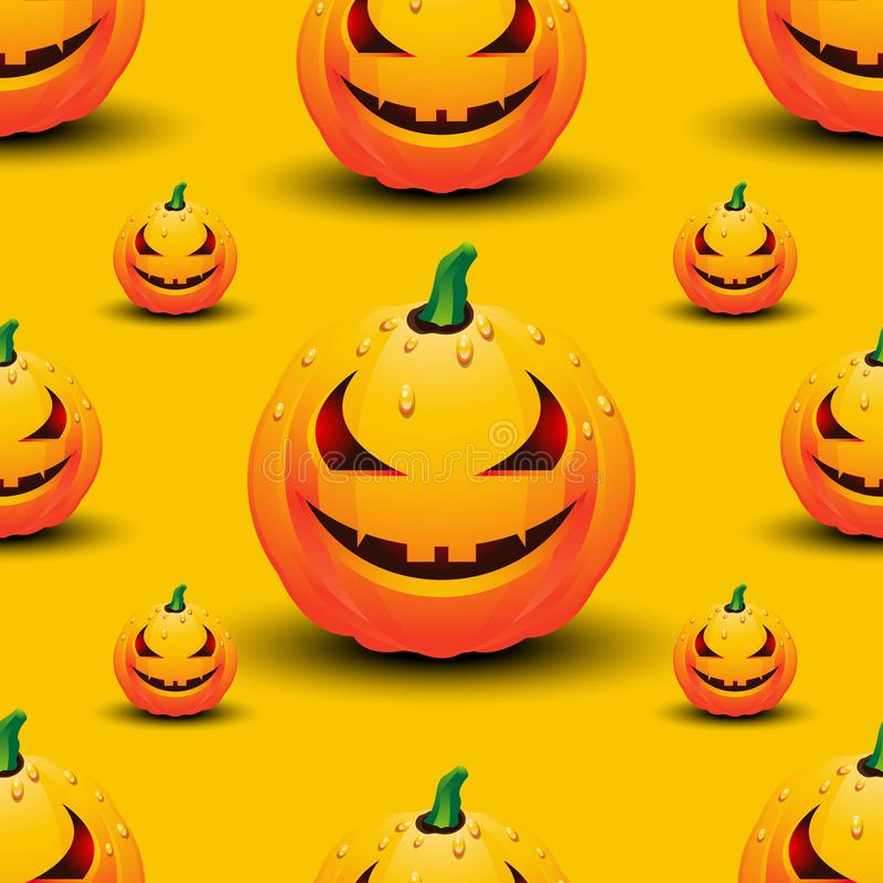 Happy Halloween seamless pattern with pumpkins, template design for background, greeting card, invitation and poster. royalty free illustration