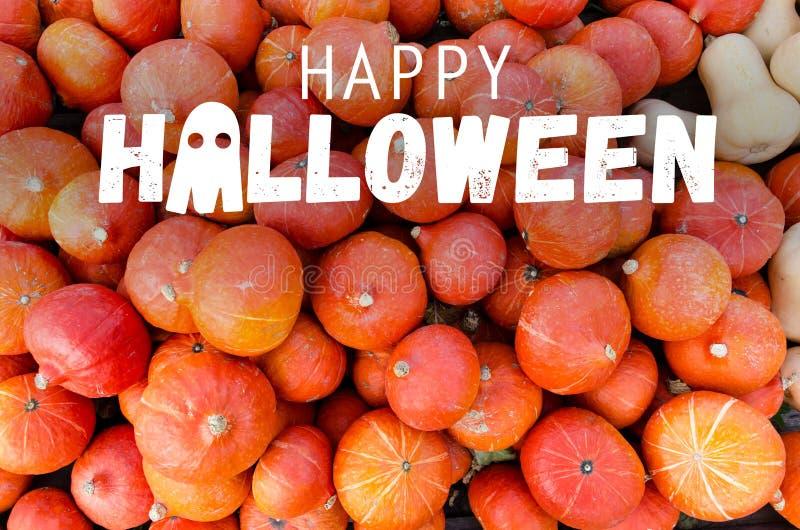 Happy Halloween pumpkins stock images