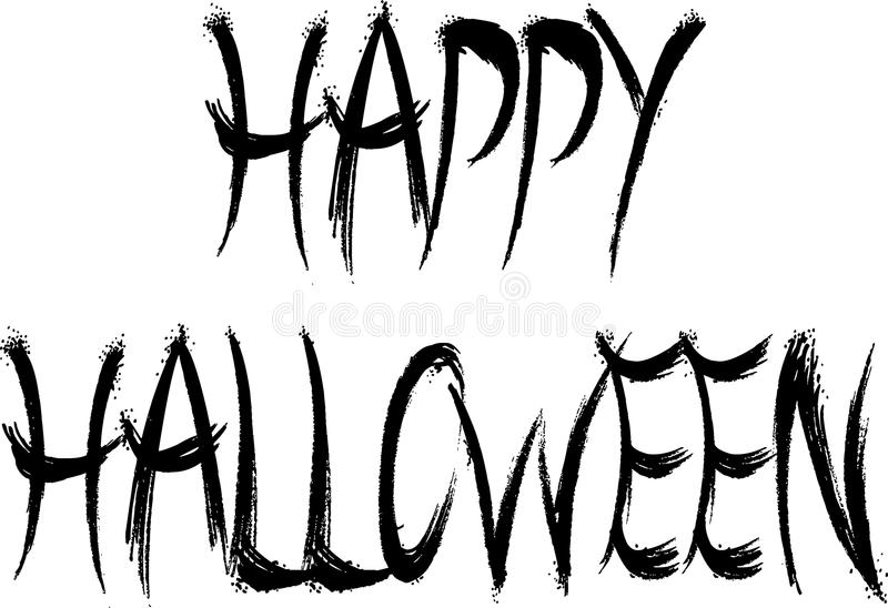 Happy Halloween sign stock image. Image of design, abstract - 45177545