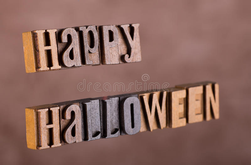 Happy Halloween Sign stock photo