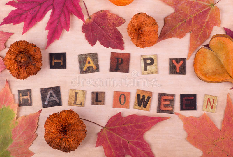 Happy Halloween Sign royalty free stock photo