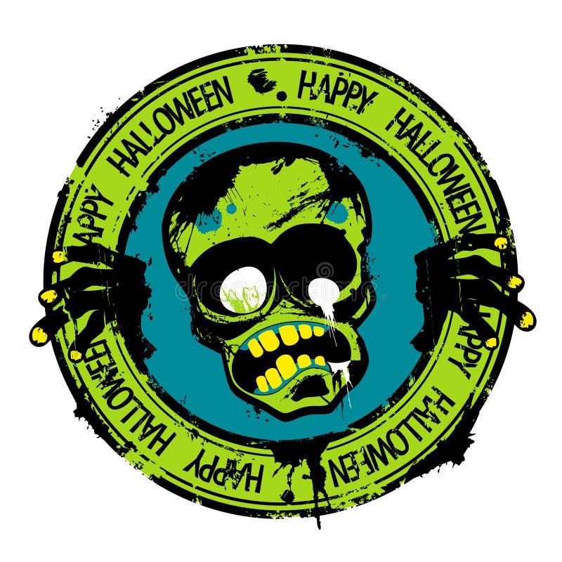 Happy Halloween stamp. vector illustration
