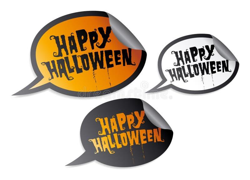 Happy Halloween stickers stock illustration
