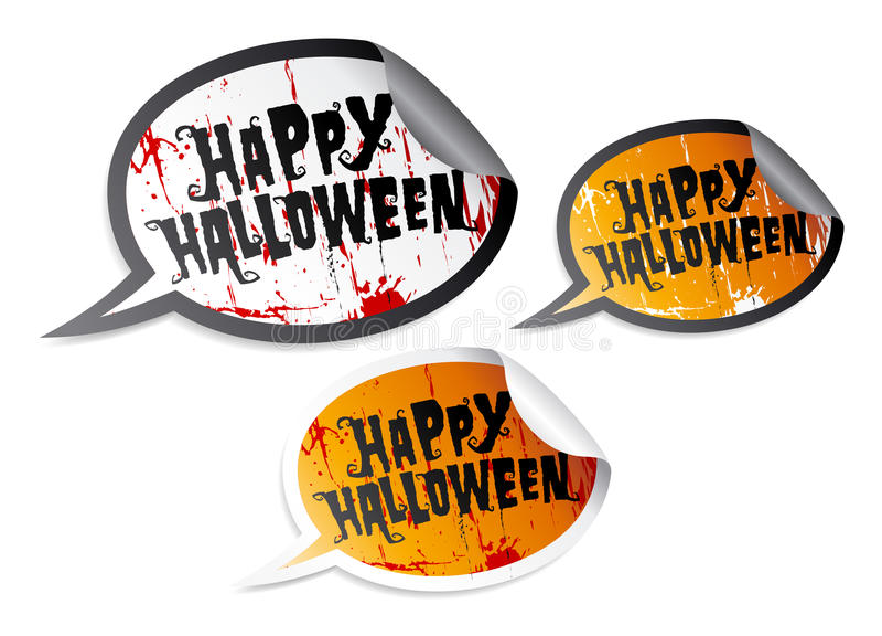 Happy Halloween stickers vector illustration