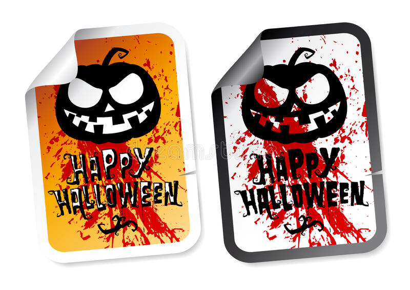 Download Happy Halloween stickers stock vector. Illustration of grunge - 26514843