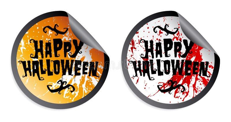 Download Happy Halloween stickers stock vector. Image of form - 26514847