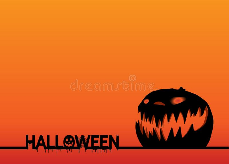 Happy Halloween Text Banner and Pumpkin Head  design poster elements logos, badges, labels, icons and objects. invitation. Happy Halloween Text Banner and stock illustration