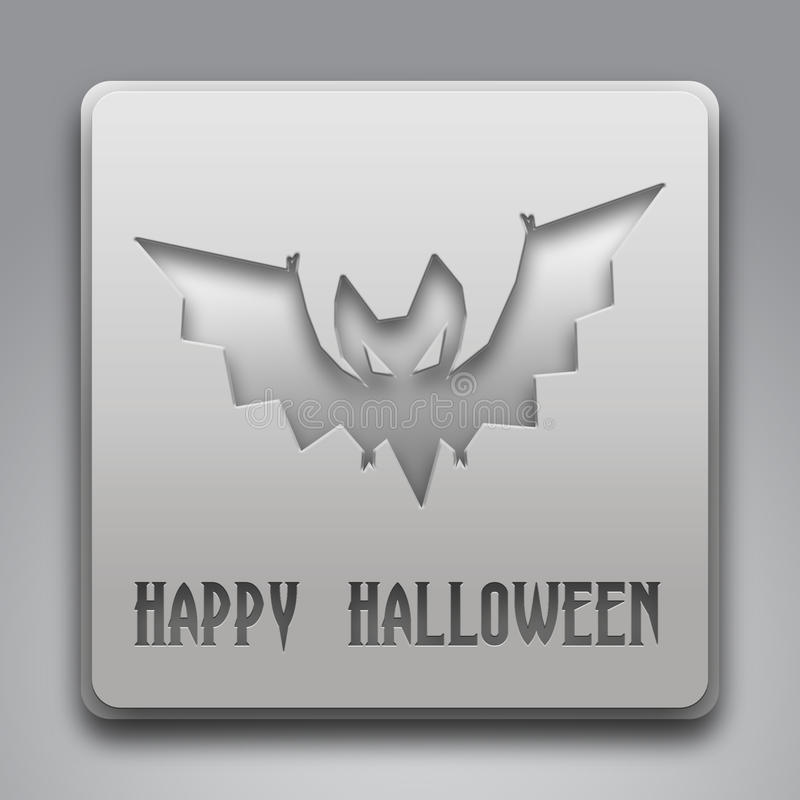 Download Happy Halloween Text With Bat Symbol Stock Illustration - Image: 34327588