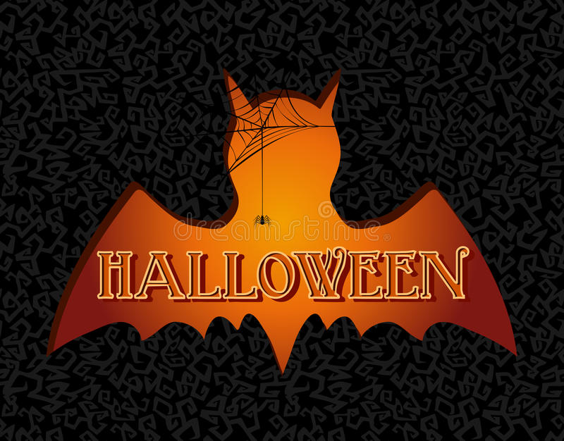 Happy Halloween text spooky vampire illustration EPS10 file. stock photography