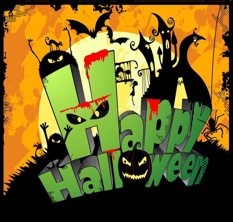 Download Happy Halloween Type stock vector. Illustration of hill - 14791418