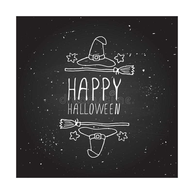 Happy halloween - typographic element royalty free illustration