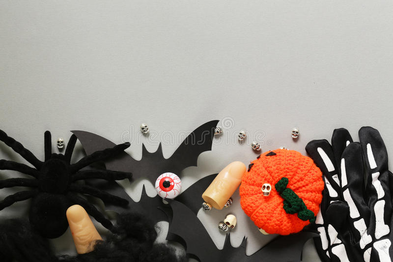 Happy Halloween - variety of things for decorations stock images