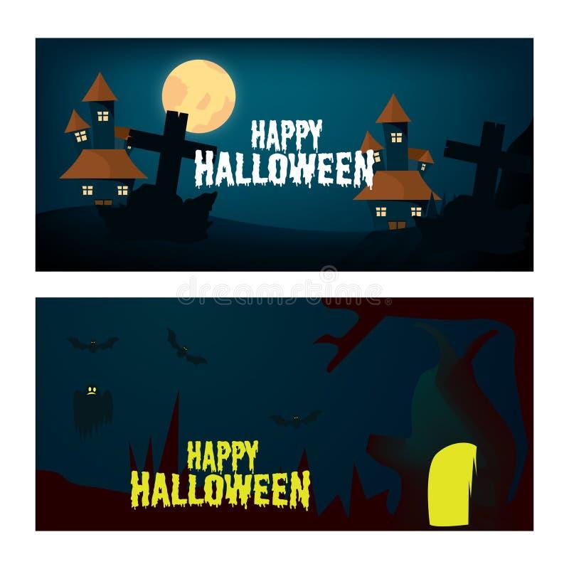 Happy Halloween vector background design with pumpkin illustration vector illustration