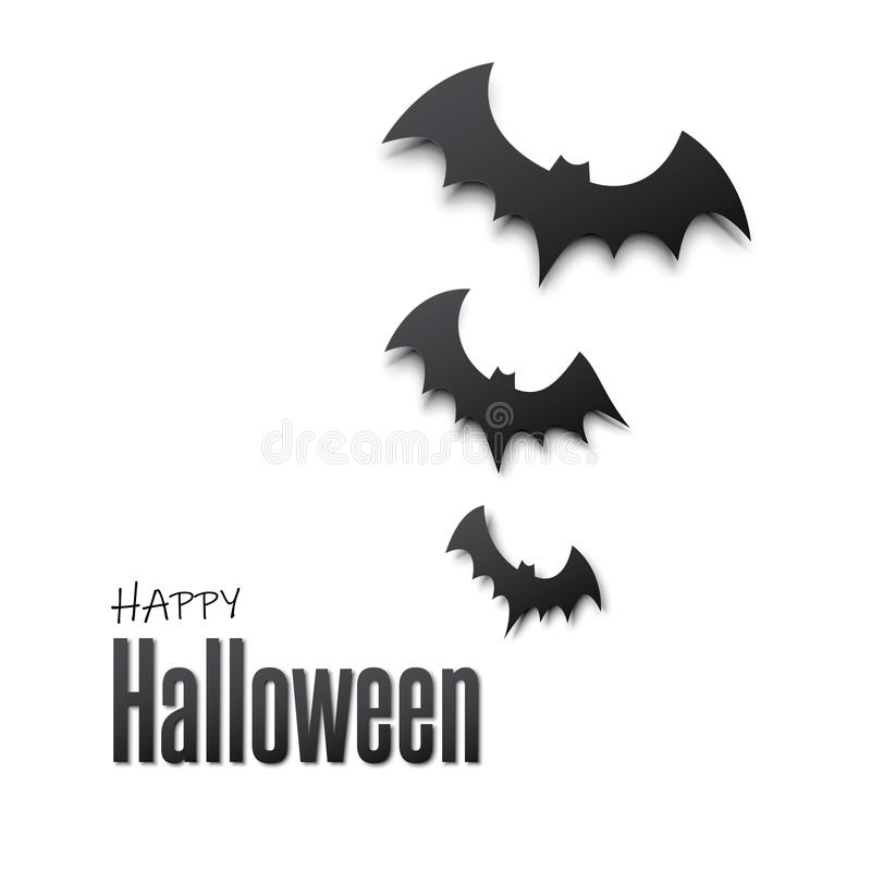 Happy halloween. Vector illustration with bats spider for banner, poster, greeting card, party invitation. Vector vector illustration