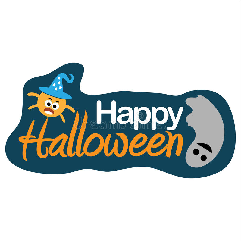 Happy halloween. vector illustrator stock image