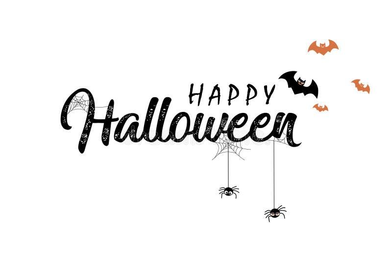 Happy Halloween vector lettering stock images