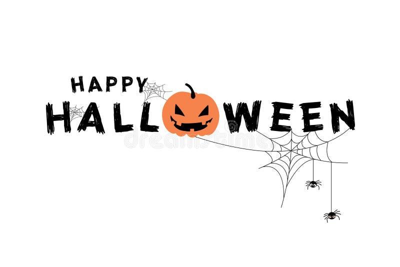 Happy Halloween vector lettering stock photos