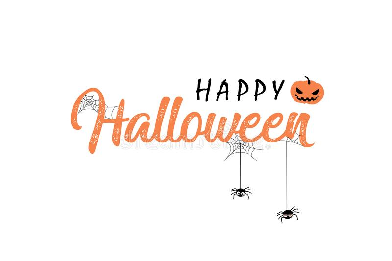 Happy Halloween vector lettering royalty free stock images