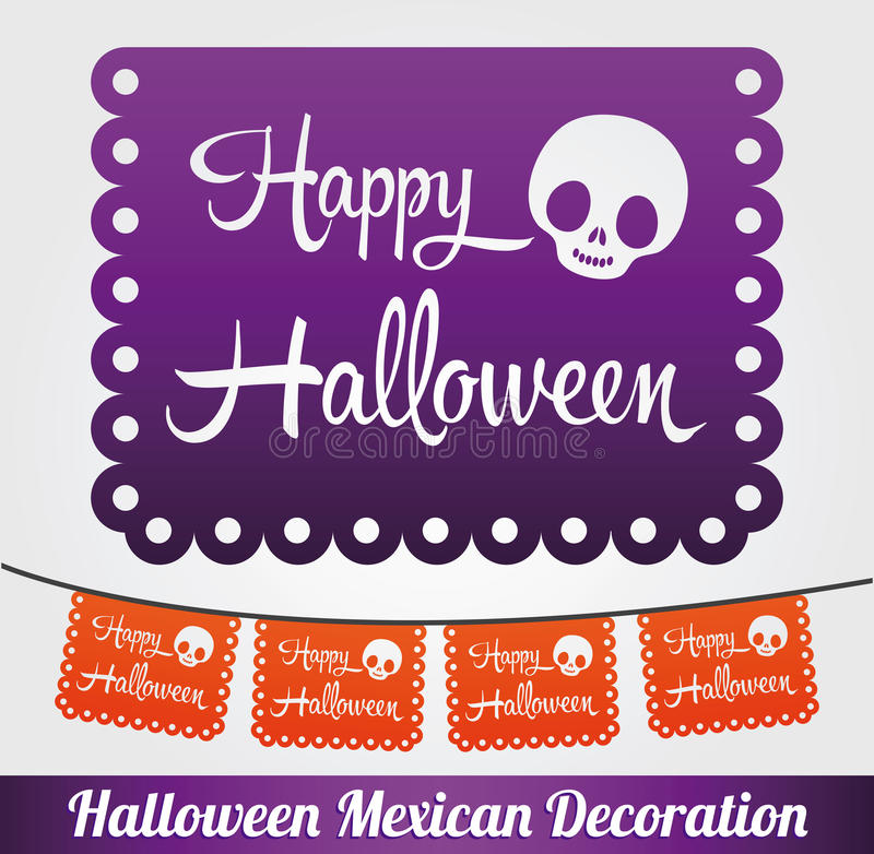 Happy Halloween vector mexican decoration. Eps available royalty free illustration