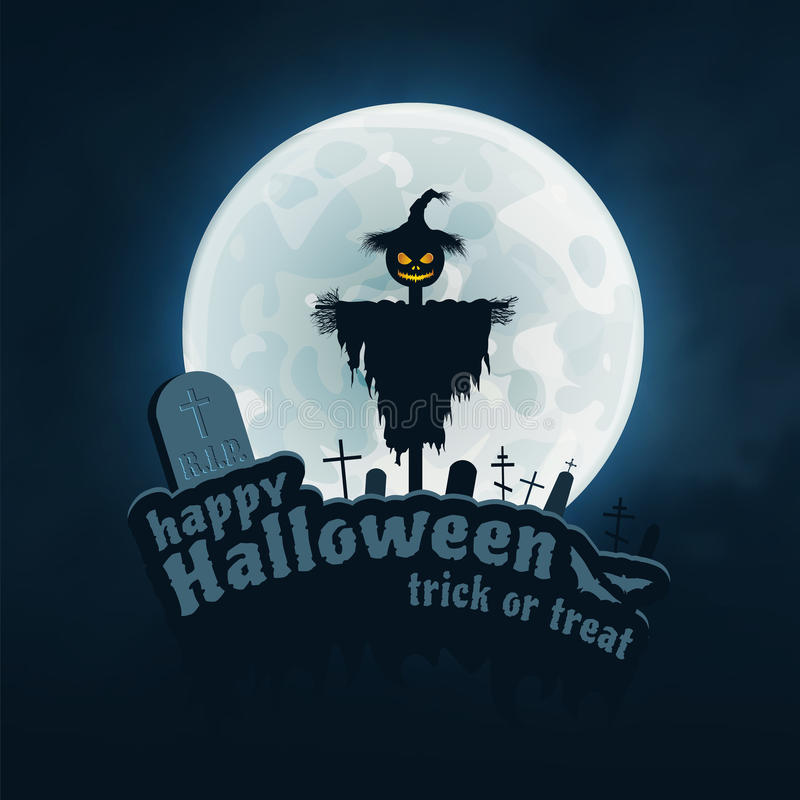 Happy Halloween Vector Sticker stock illustration