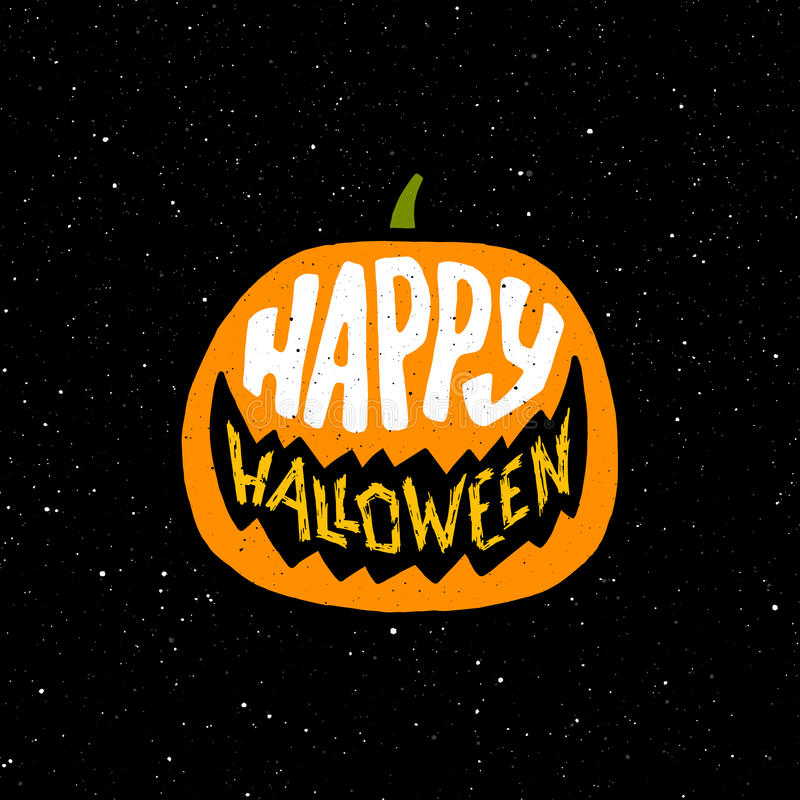 Happy Halloween vintage banner with typography vector illustration
