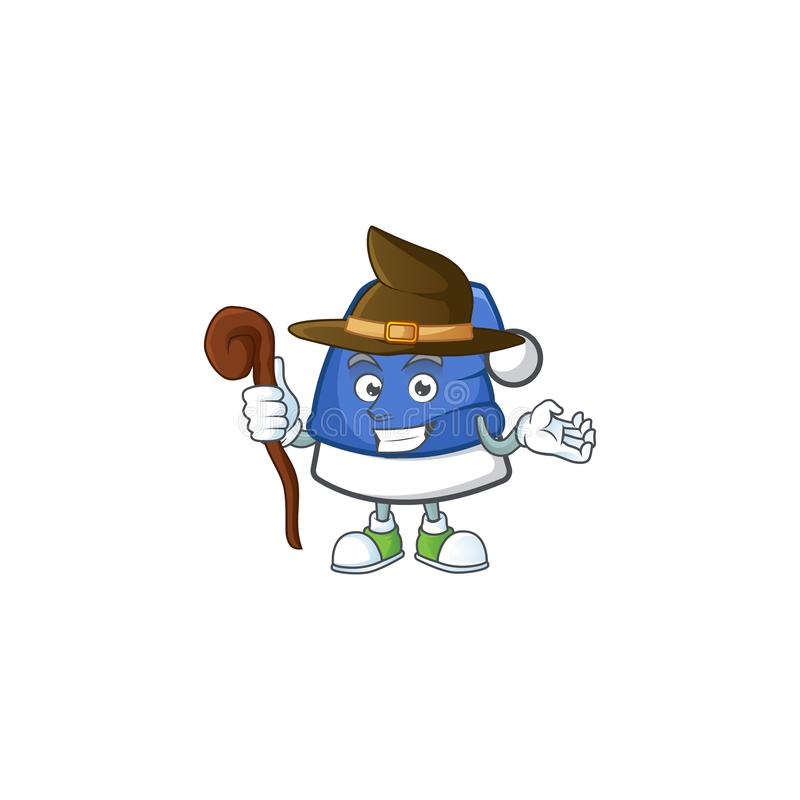 Happy Halloween Witch blue christmas hat cartoon character style 库存例证