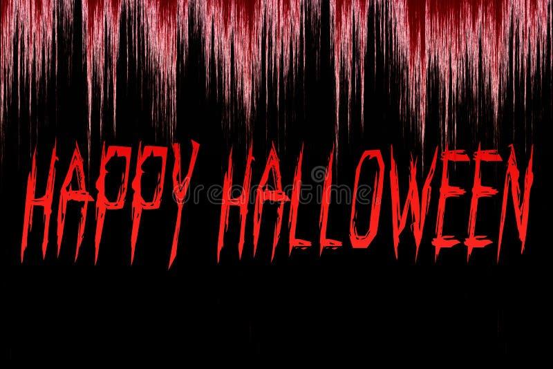 Happy Halloween written on bloody background royalty free illustration