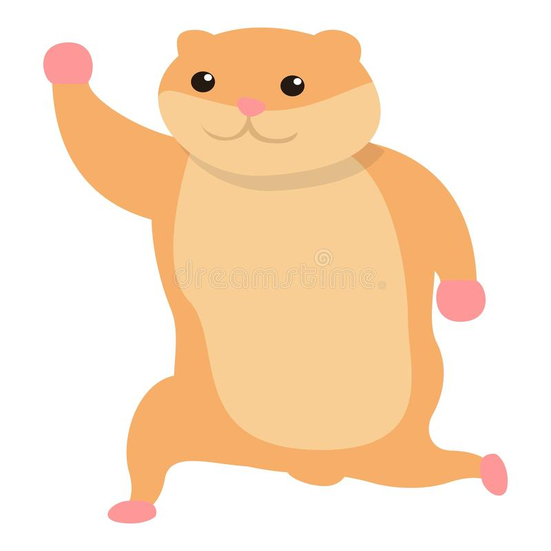 Happy hamster icon, cartoon style. Happy hamster icon. Cartoon of happy hamster vector icon for web design isolated on white background royalty free illustration