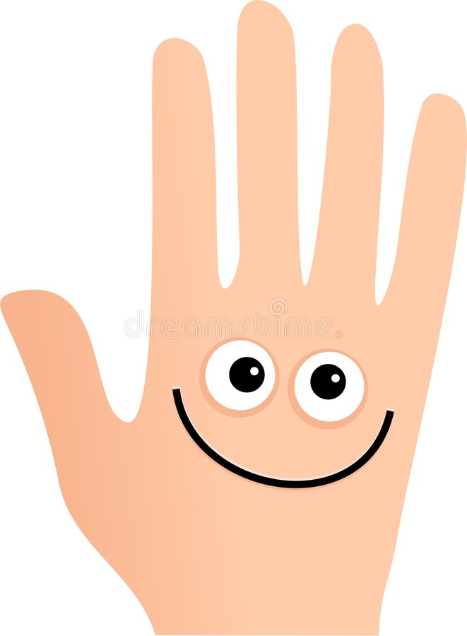 Happy hand stock photo