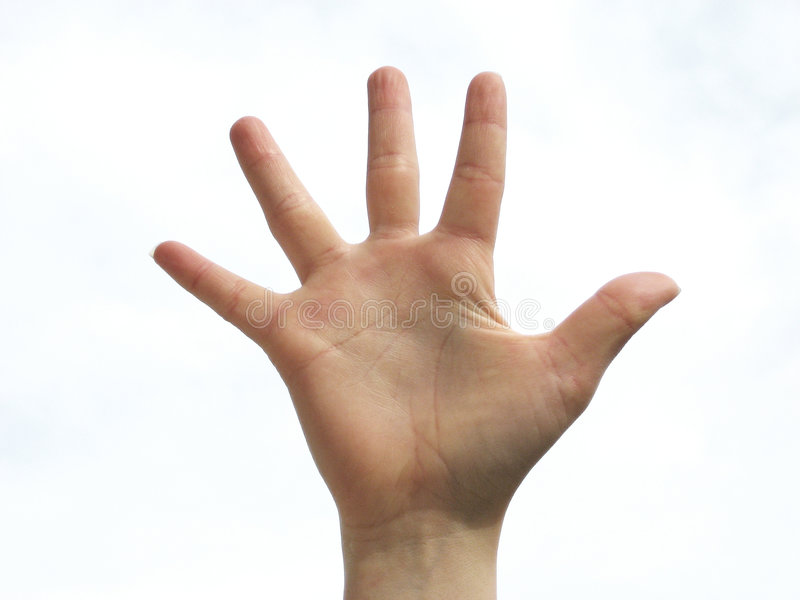 Happy hand royalty free stock photography