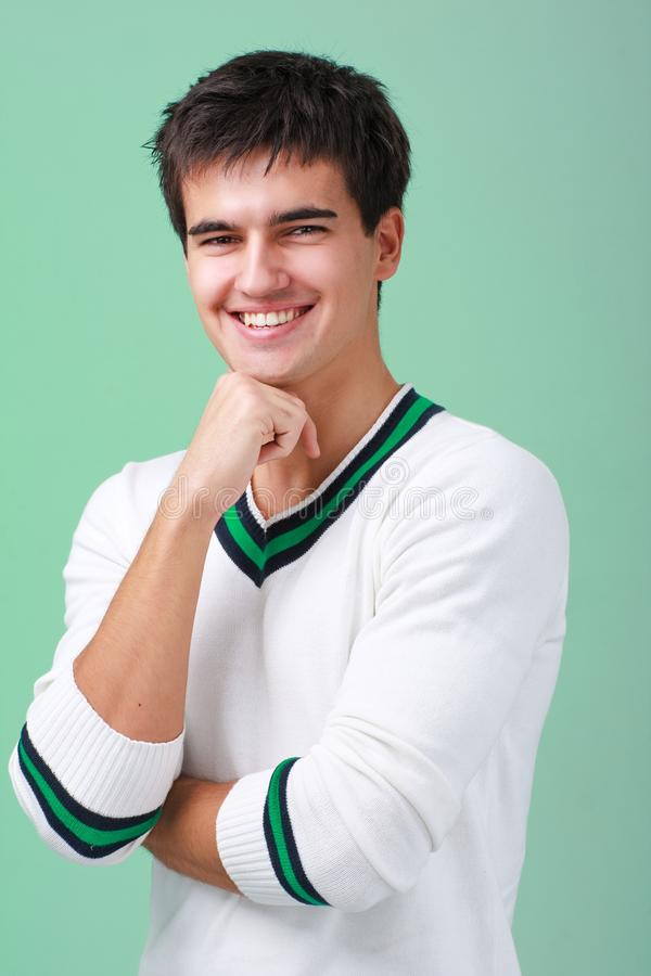 Download Happy handsome man stock image. Image of student, studio - 13543283