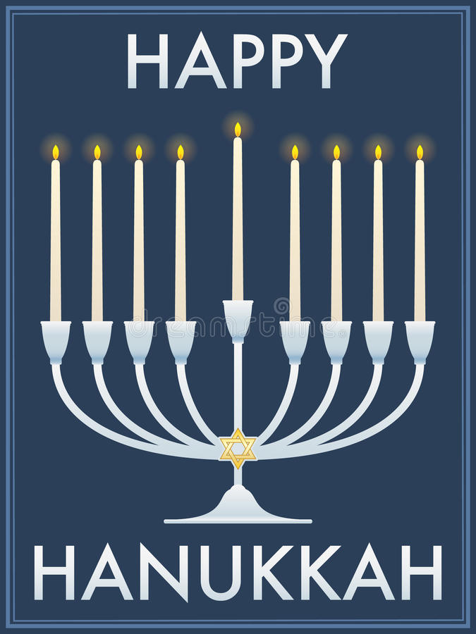 Happy Hanukkah stock illustration