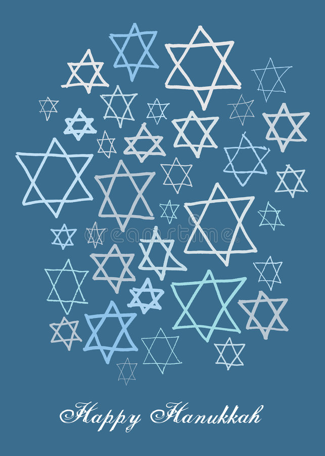 Happy hanukkah stock illustration