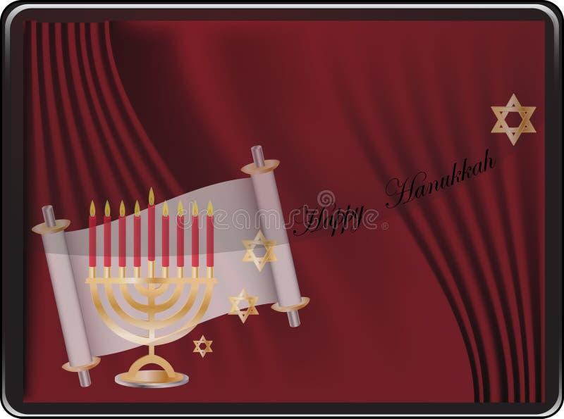 Download Happy hanukkah card stock vector. Illustration of candleholder - 20859374