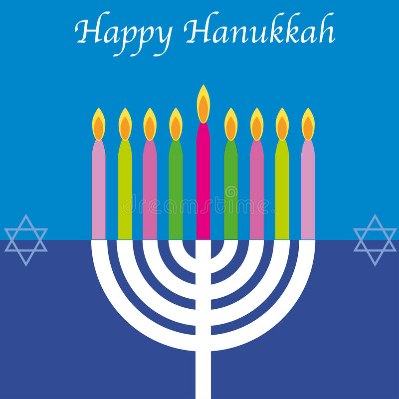 Happy Hanukkah card royalty free illustration